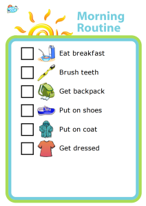 Make your mornings smoother and empower your kids! The Trip Clip makes it easy to create and print custom morning routines for your kids, and the pictures make it easy for big and little kids to know what needs to be done next. Try it at your house and find out how capable your kids are! You'll finally have time to finish that cup of coffee.