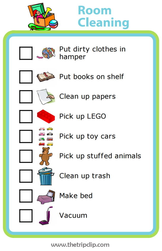 Kids Bedroom Cleaning Checklist 28 Images Printable