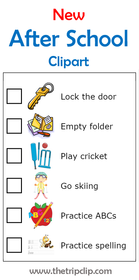 more-after-school-checklist-clipart