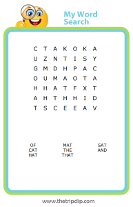 First grade word search spelling practice