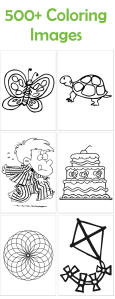 Over 500 printable coloring images. You can print your own coloring book!