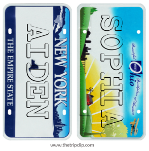 Easily make a custom license plate with your child's name on it. They will love decorating it and making it their own!
