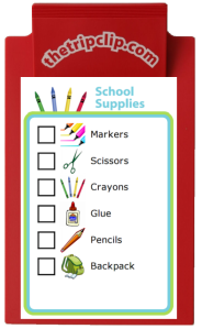 Empower your kids with this school supplies checklist. Younger kids will love being in charge of finding all their own supplies at the store!