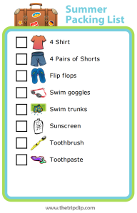 Summer Packing List for Kids
