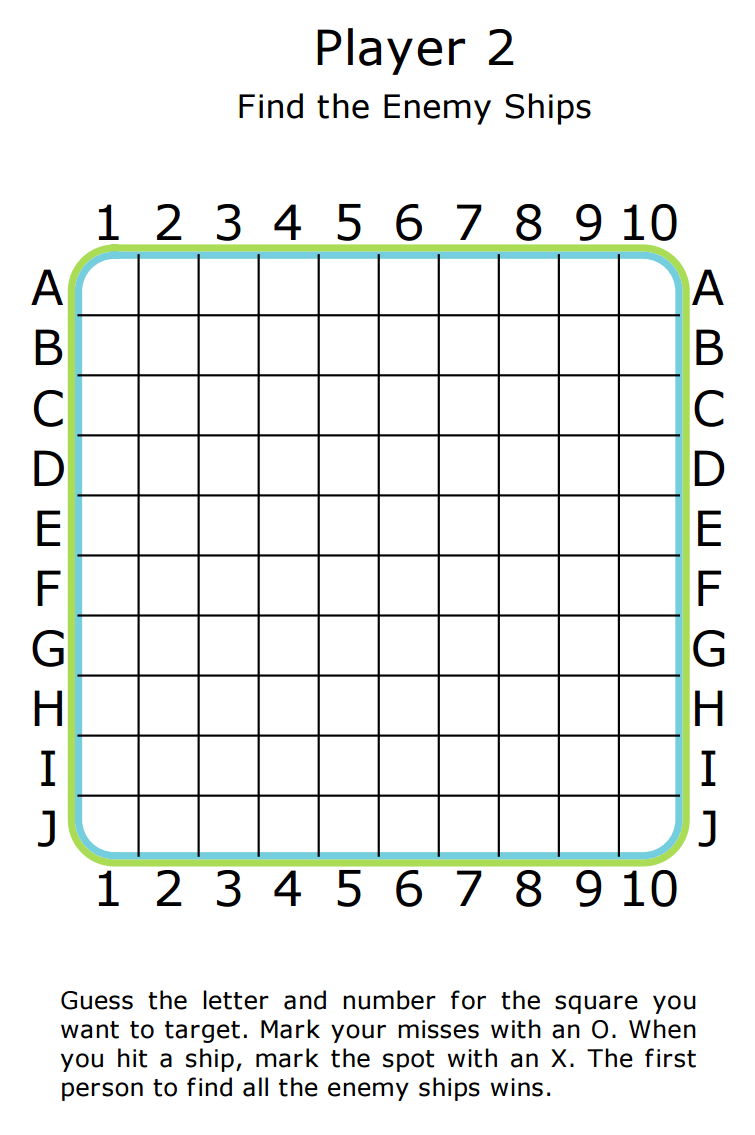 picture regarding Printable Battleship identify 7 days 11: Finding out Math with the Battleship Generate Recreation The