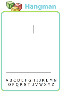 Printable hangman templates to keep your kids entertained anywhere you go.
