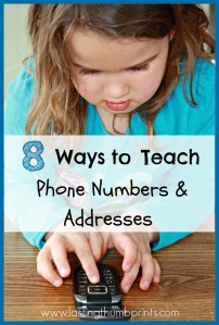 8 ways to teach phone numbers and addresses
