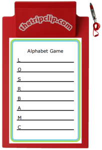 Great for entertainment and learning! Challenge your child to find an item nearby that begins with each letter. Use it at a restaurant, in the airport, or anyplace you go with your kids. Each time you print it you'll get a different set of letters to practice those first letter sounds, handwriting, and spelling!