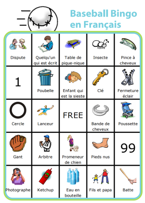 Keep your little ones entertained on the sidelines while learning a little french along the way! You can edit this to be in any language you want.