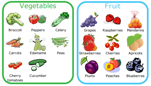 Can your kids identify all their fruits and vegetables! Try a lunch packing checklist to help them learn.