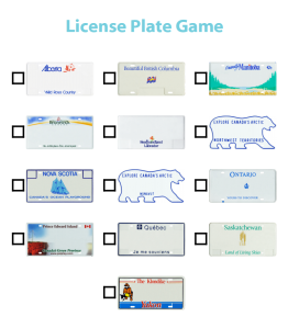 Road trips with the kids can be a ton of fun. They can also be a great source for learning! Play the license plate game with a labeled map to help teach your kids some geography.