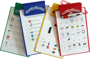 Lots of printable activities for kids – picture checklists to keep them on track, activities for at the grocery store, in the car, on a plane, at a restaurant, even for your home schooling adventures. Optional kid-sized clipboard and 4-color pen make it easy to use the activities on the go.