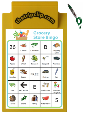 A great way to keep the little ones entertained while you get the grocery shopping done. You can print a new bingo board every time you go to the store. Challenge the kids to find every item on the board!