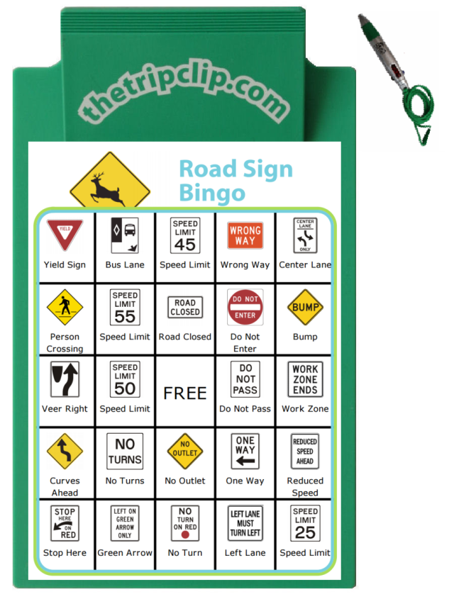This is a fun twist on travel bingo, and great for older kids. See how many of these road signs you can find on your next trip!