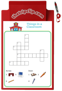 Although adults usually think crossword puzzles are about solving clues and knowing obscure words, it turns out that crosswords puzzles with picture clues can be great for helping kids practice spelling!
