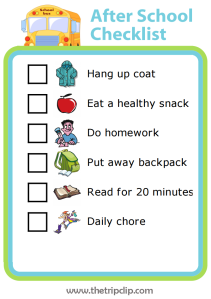 If after school is a crazy time in your house, try this editable after school checklist.