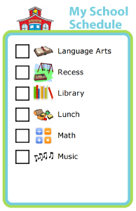 This drag and drop school schedule maker is a great visual support for home schools and for kids with Autism, Asperger's, ADHD, and other special needs. It helps them know what to expect from their school day.