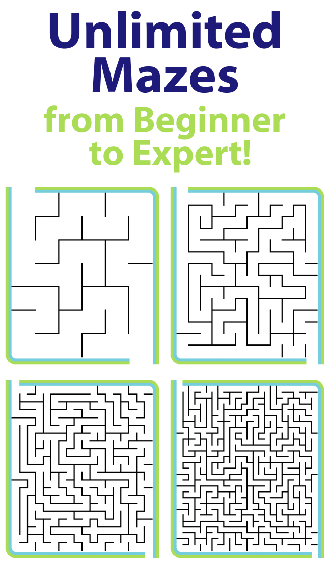 graphic relating to Printable Mazes Medium referred to as 7 days 38: Educate Situation Resolving with Mazes The Family vacation Clip