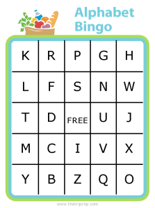 Alphabet Bingo is great for the grocery store - have your kids find something that starts with each letter and write it in the box. Fun and super educational!