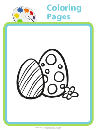 Easter egg coloring page - choose from over 500 pictures to color!