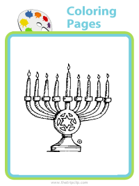 Menorah coloring page - choose from over 500 pictures to color!