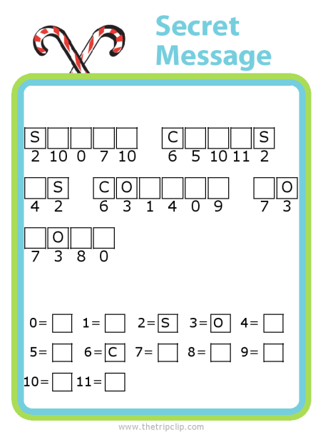 Make your own Christmas themed secret message puzzle for kids - fun and educational!