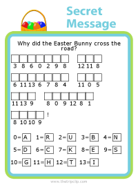 Make your own Easter themed secret message puzzle for kids - fun and educational!