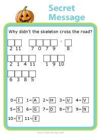 Make your own Halloween themed secret message puzzle for kids - fun and educational!