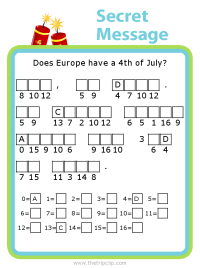 Make your own 4th of July themed secret message puzzle for kids - fun and educational!