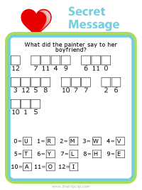 Make your own Valentine's Day themed secret message puzzle for kids - fun and educational!