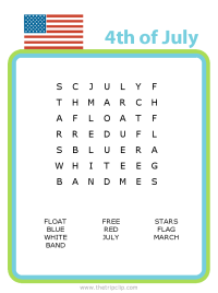 Make your own 4th of July word search puzzle for any age kid!