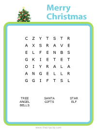 Make your own Christmas word search puzzle for any age kid!