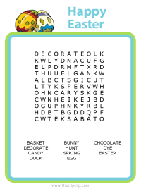 Make your own Easter word search puzzle for any age kid!