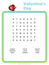 Make your own Valentine's Day word search puzzle for any age kid!