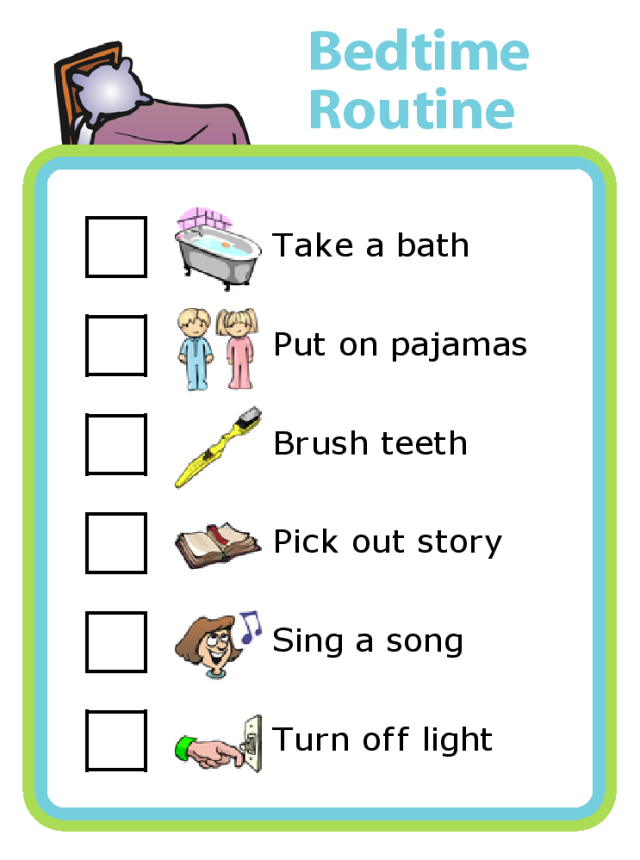 Easily create a customized bedtime routine checklist. Consistency at bedtime can make it smoother and more calming for everyone.