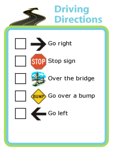 Keep your child busy in the car by letting them give you directions and track your progress.