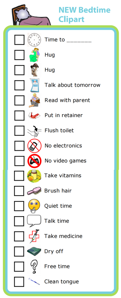 Based on customer requests I've added 17 new images you can use to easily create a customized bedtime routine checklist. Consistency at bedtime can make it smoother and more calming for everyone.