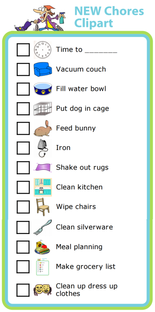 A chore list makes it very clear what expectations are! Make one that's just right for your family.