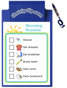 Go to www.thetripclip.com to make and print your own custom checklist and then use it with a kid-sized clipboard and pen. It comes in 4 color choices: red, blue, green, or yellow.