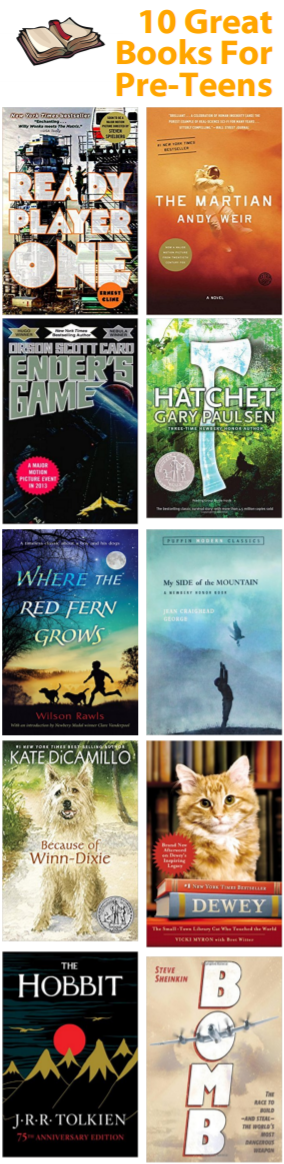 Excellent books for science fiction and animal loving pre-teens