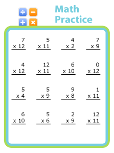 Practice those times tables! You can also create unlimited worksheets for addition, subtraction, and division. Whatever your kids need!