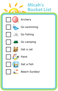 Make a summer bucket list with your kids to make sure you get to all the fun things they want to do this summer!