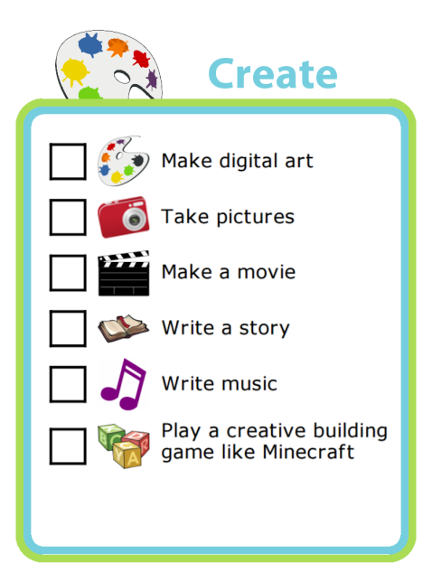 Say YES to screen time! There are lots of good ideas here, or you can edit these to add your own.