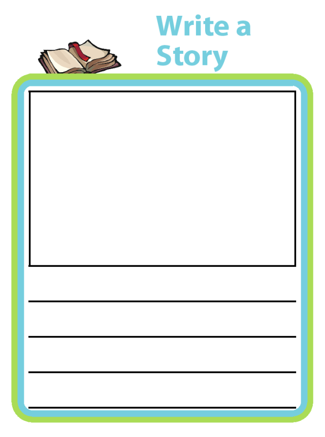 Print out a handful of story template pages, staple them together, and ask your child to write a book for you.