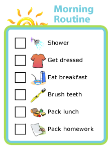 Get organized for back to school with this drag and drop morning routine maker.