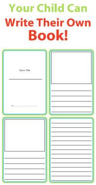 Having your kids write their own book is wonderful writing practice. These simple templates are a great way to get inspired – ask your kids to write about something they did this summer.