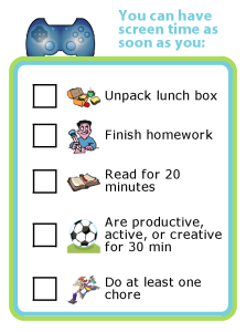 Get organized for back to school by creating your own after school screen time rules.