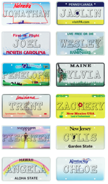 A teacher from Washington made license plate name tags for each child in her classroom. What a great idea!