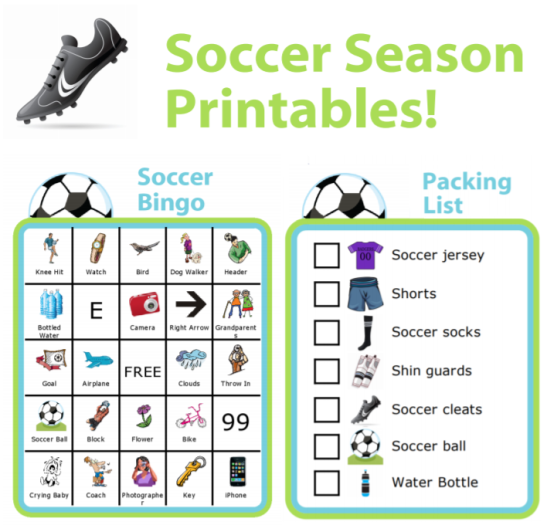 These free printables are excellent for any family spending time on the soccer fields. You can also edit them to make them just right for your family.