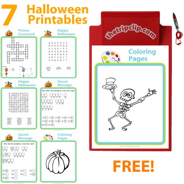 The Trip Clip has lots of great activities you can customize and print. Here are some fun Halloween themed printables for kids of any age!